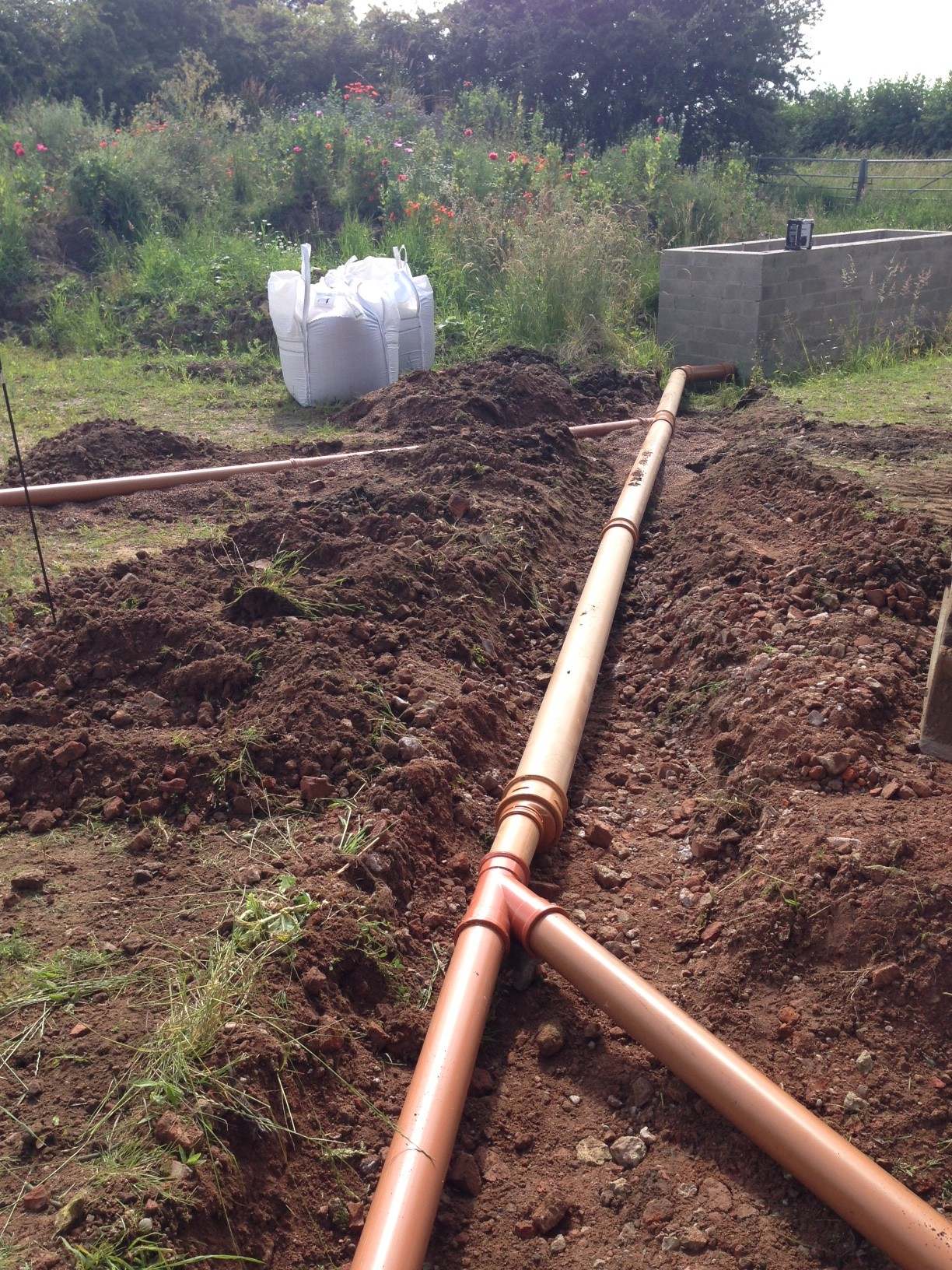 water collection pipe